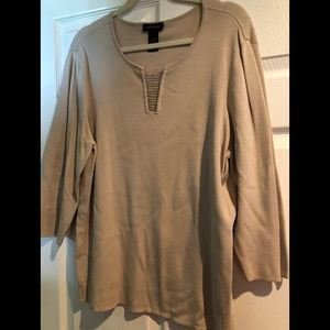 Lane Bryant women's blouse gold and beige 18/20